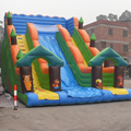 blue inflatable slide/giant inflatable water slide for adult