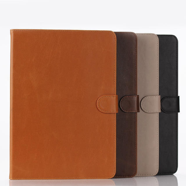 Luxury slim auto sleep wake wallet leather case for ipad air 2