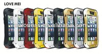 Original LOVE MEI Small Waist life Waterproof proof Metal Case For iphone 5