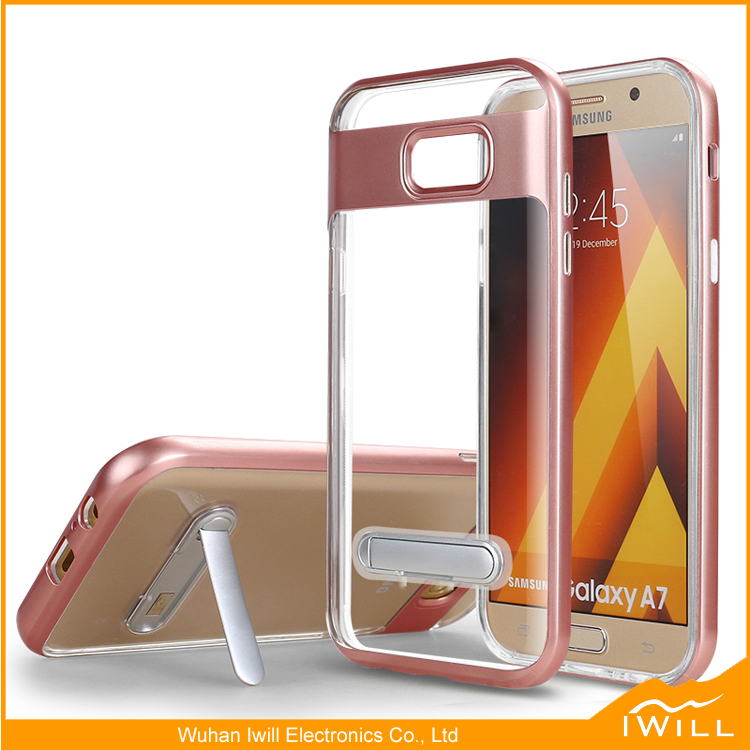 Hot Selling TPU PC Frame Hybrid Holder Case for A3 2017 A5 2017 A7 2017 Hybrid Shell Case