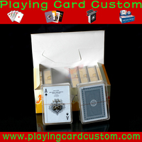 Custom Plastic Gloss Finishing Coated Playing Cards
