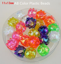 cosmetic AB Color large plastic beads in bulk for kids cheap plastic jewellery