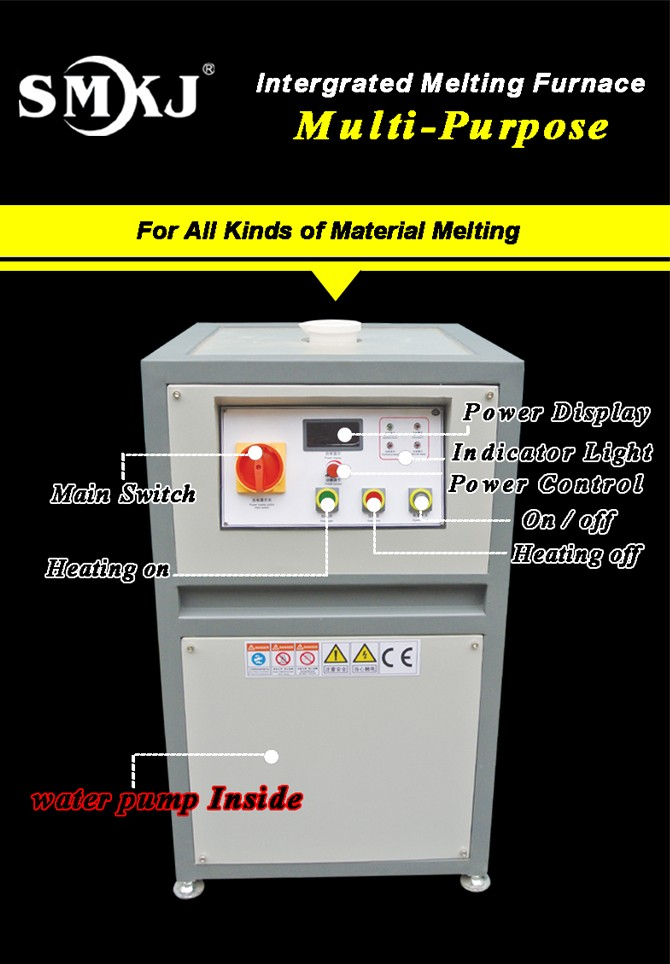 compact Induction gold smelter for small gold mine sale