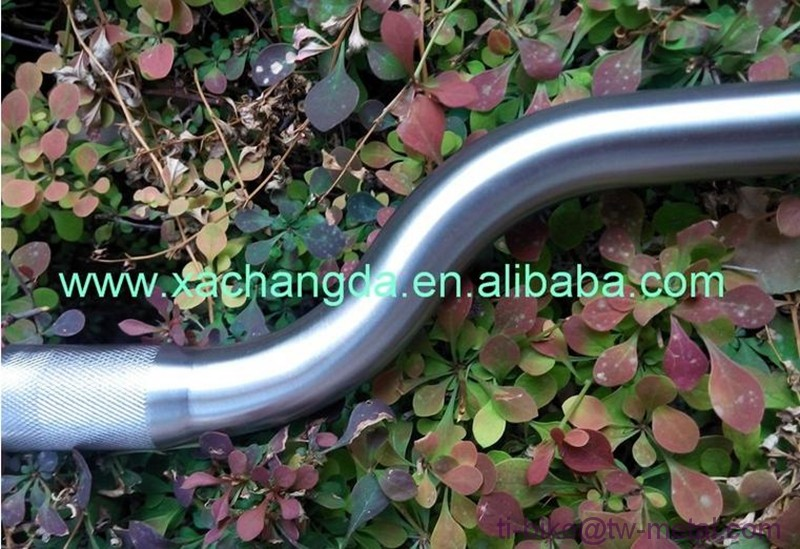 XACD made titanium handle bar for e-bike frameset, cheap Ti bicycle handle bars, titanium bicycle folding handlebar