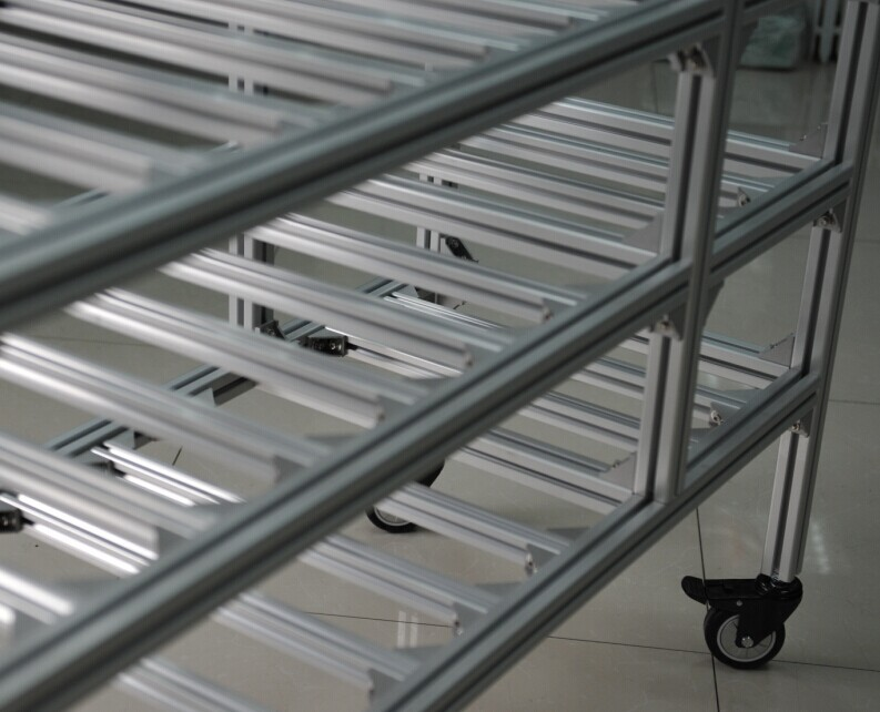 Aluminum shelving use for industrial