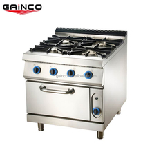 4 burner commercial gas cooking range