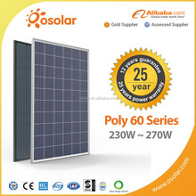 solar panel manufacturers 250W 260W 270W polycrystalline solar panel system for solar power panel home