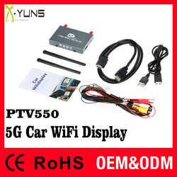 Car Video Interface 2.4G+5G support miracast airplay USB Flash Disk files