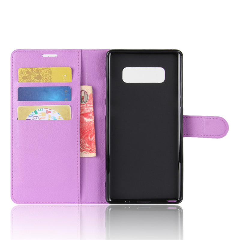 Mobile Phone OEM Wholesale Anti Shock PU Leather Wallet Case For Samsung Galaxy Note 8 Cover With Stand Credit Card Holders