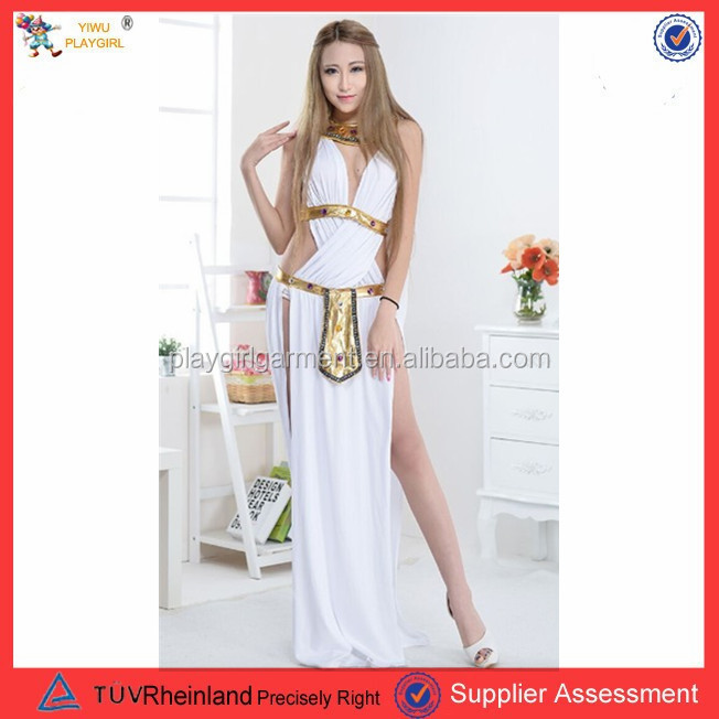 PGWC1727 Halloween carnival party cheap white women greek roman toga costume goddess fancy dress costume