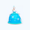 custom made plastic elsa princess doll cake