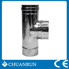 80mm T-tube chimney pipe for pellet stoves