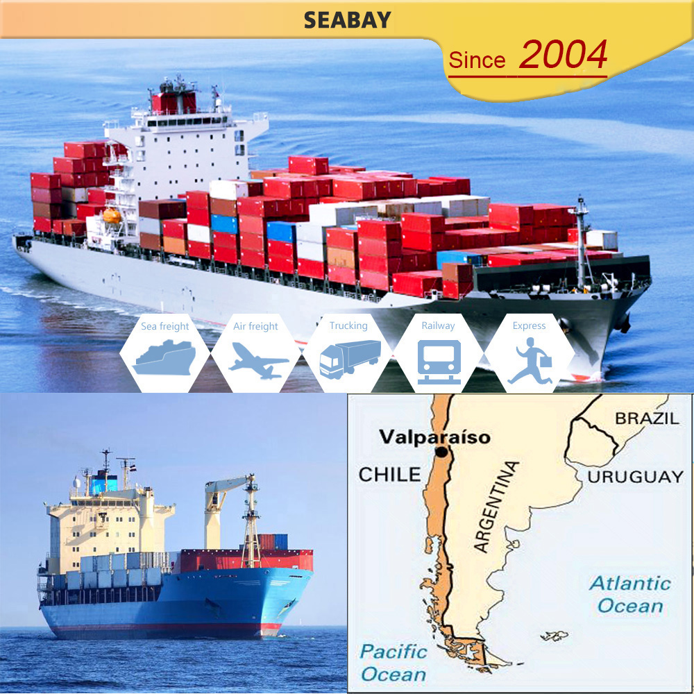 China sea container shipping freight service to Chile Valparaiso