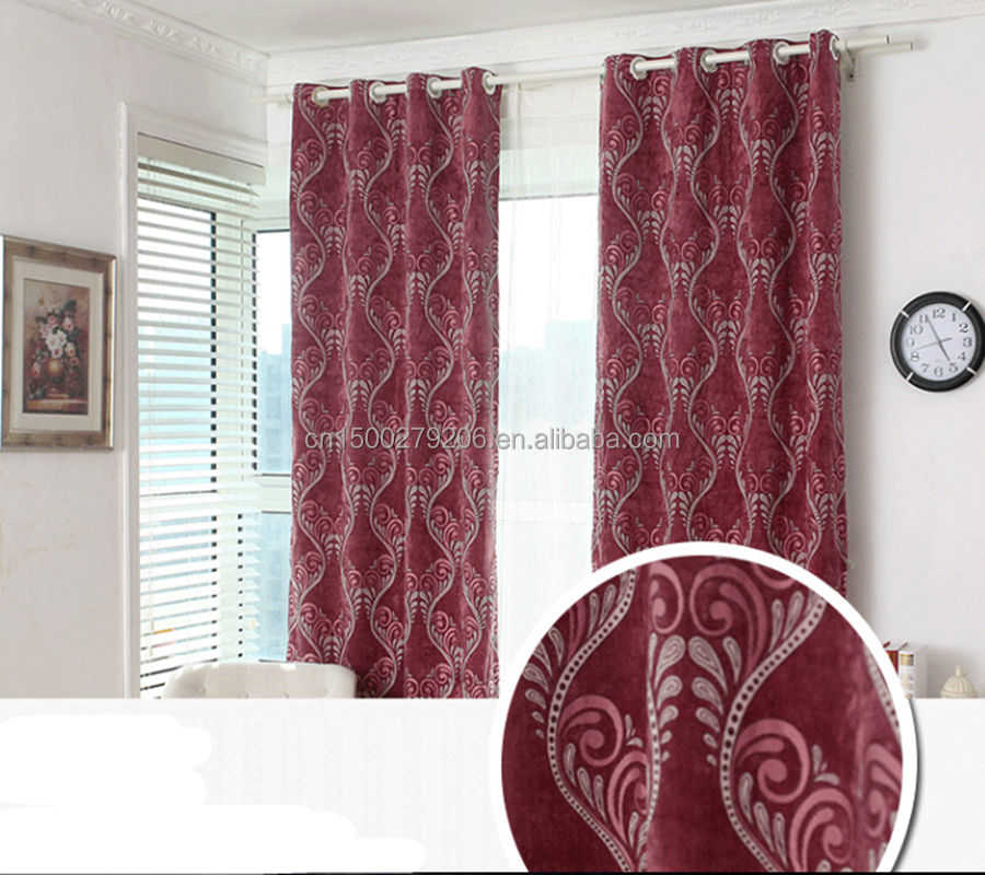 competitive price wholesale ready made luxury curtain designs curtains india