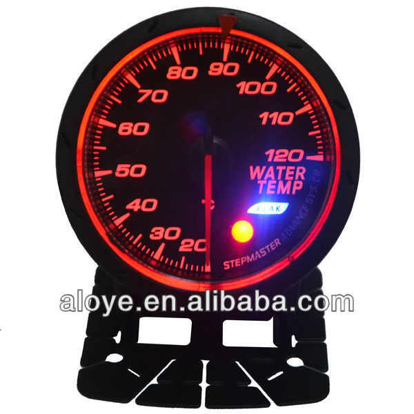 Black Car Water Temperature Auto Gauge