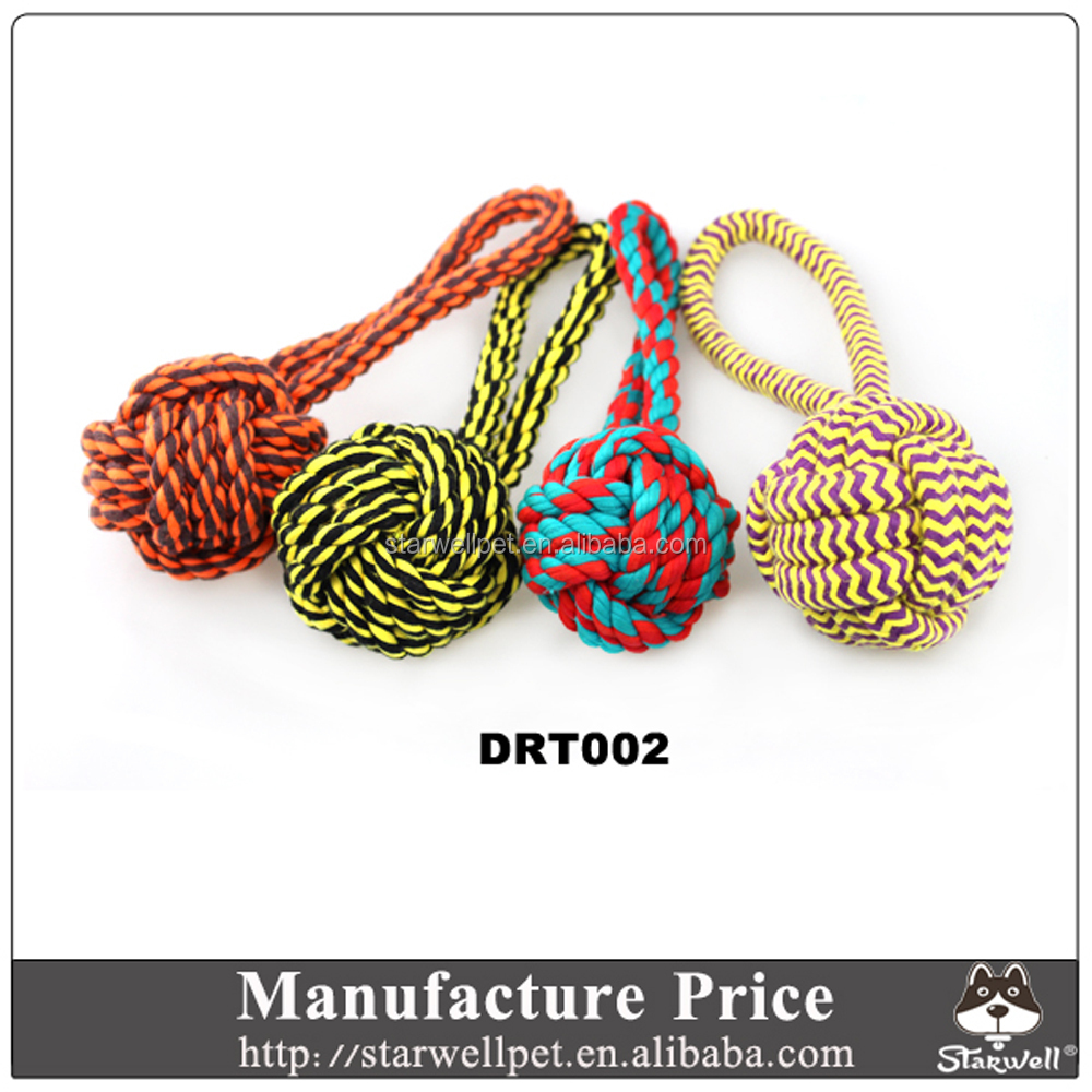 Manufacture directly Custom Cotton rope chew toy for dog