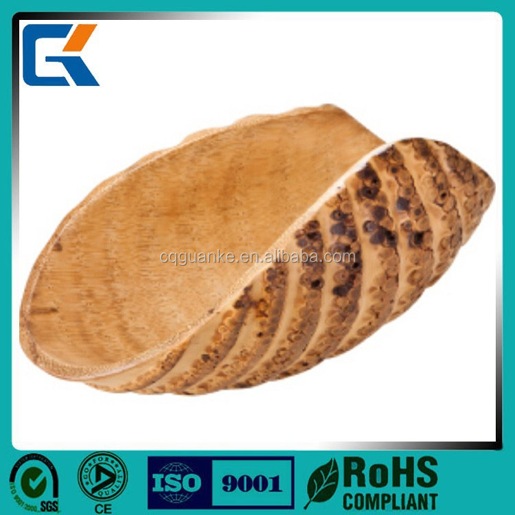 Bamboo plate handmade in Vietnam bamboo plate natural color decoration plate
