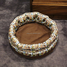 Luxury wholesale high quality warm round dog bed on sale