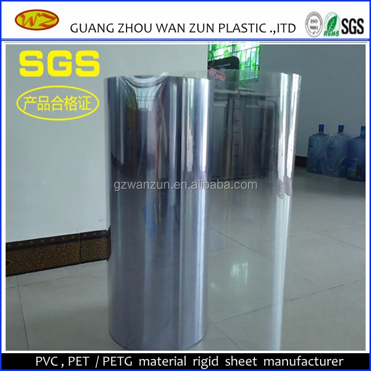 500 micron Medical grade Transparent PVC Film for food vacuum forming