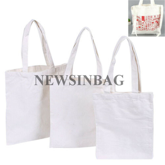 NEWSINBAG Repeatedly Used Practical Canvas Tote Bag With Outside Pockets