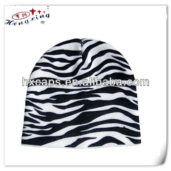Zebras custome pom top jersey beanies produced