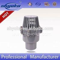 Factory High Quality Plastic Valve PVC Foot Valve Water Pump Foot Valve1/2