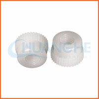 Hot sale ! China supplier white plastic knurled thumb nut