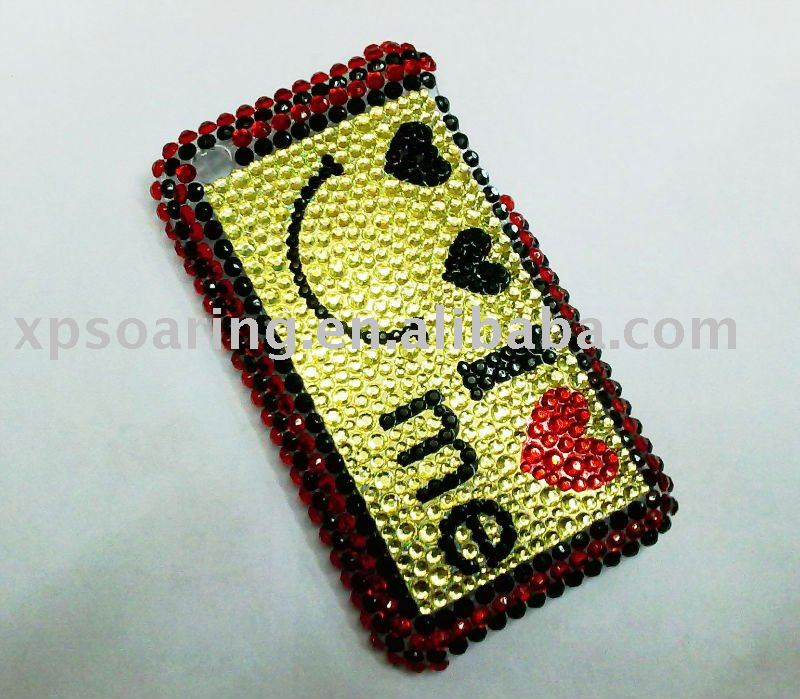simle Rhinestone diamond hard case back cover for iphone 3G,3GS