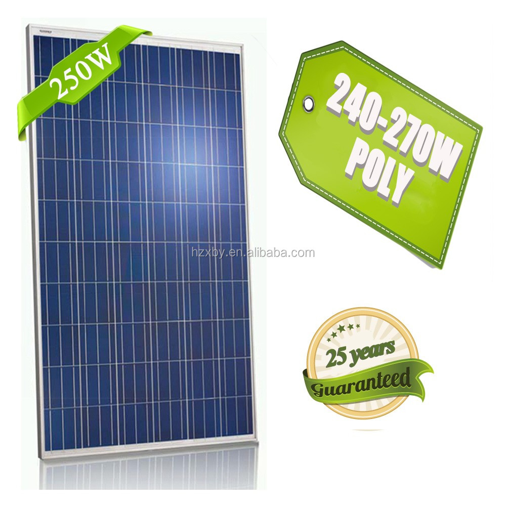 250w poly pv high quality solar panels factory low price thin film solar panels pv from china