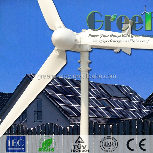 HOT ! 1kw,2kw,3kw,5kw hybrid solar wind power generator with CE certification,solar and wind power systems for home!