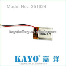 Lithium Polymer Battery - 3.7V 100/150/240/320/750/1000mah with connector and PCM