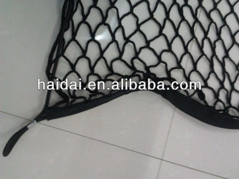 High quality green color car cargo nets with elastic rope around
