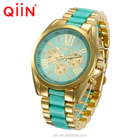 QE0102 New model men watch mesh metal stainless steel band wrist watch for Gentleman