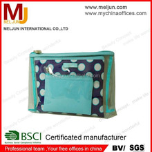 Favourite Polka dots Cosmetic case beautiful cosmetic bag for cosmetics From shenzhen BSCI factory