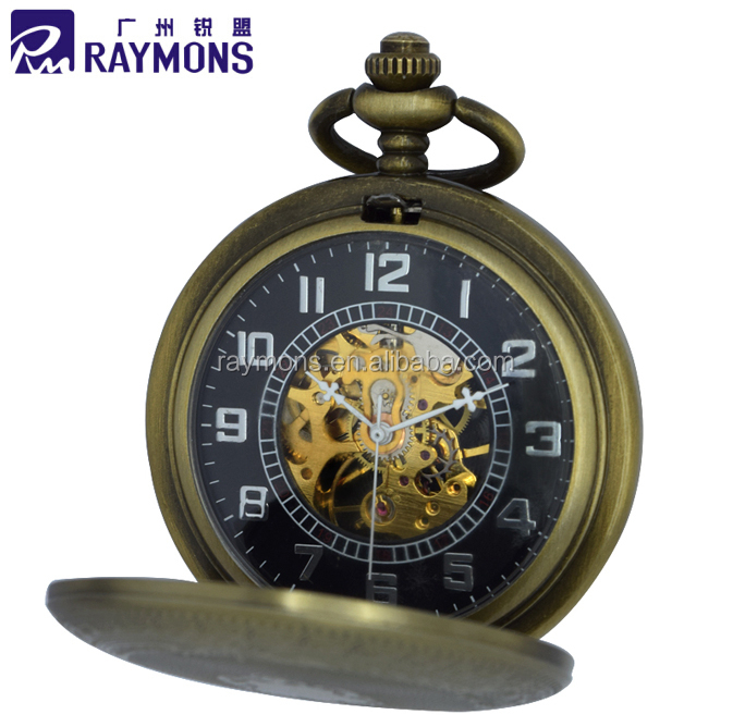 Low Quantities MOQ 10pcs Different Styles Available Mechanical Pocket Watch