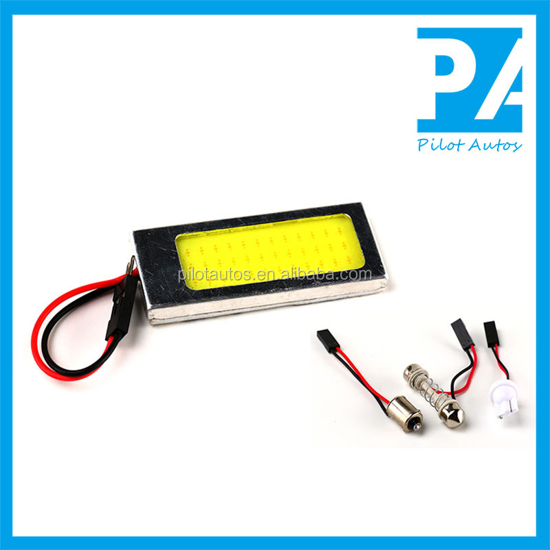 Car Panel Light Reading Light Dome Light COB 36C With Aluminium Sash With T10 Ba9s Fesston 3 Connectors