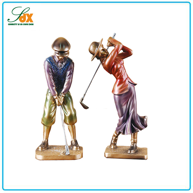 Wholesale custom resin golf player statue