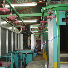 Conveyor Motorcycle Chimney Spray Coating Production Line