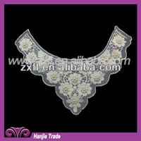 Retro Victorian White Crochet Neck Lace Collar for garment, gift or embellish accessories