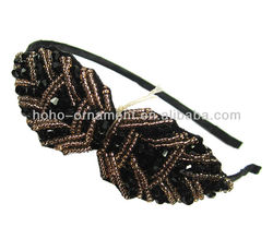 2013 Handmade Crystal Bowknot Hairband, Crystal headpiece