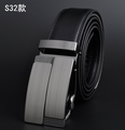 Sale Mens Alloy Buckle Split Leather Belts in Black