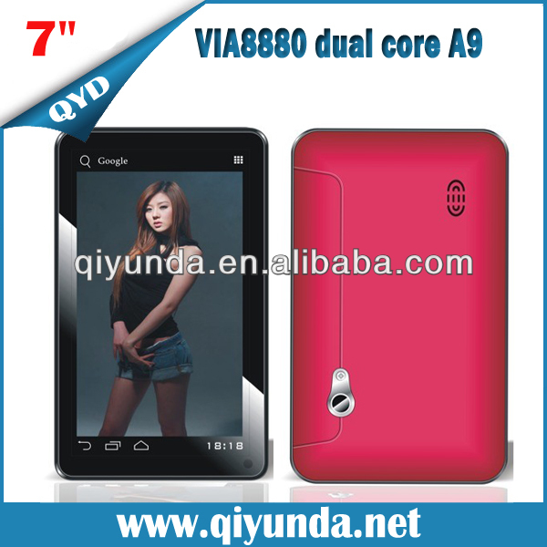 VIA 8880 Dual Core 7 inch Tablet PC Android 4.2 OS Cheapest and New Products on China Market