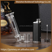 510 dry herb vaporizer wax coil double enail battery powered titanium domeless Rockit 3 in 1 kit