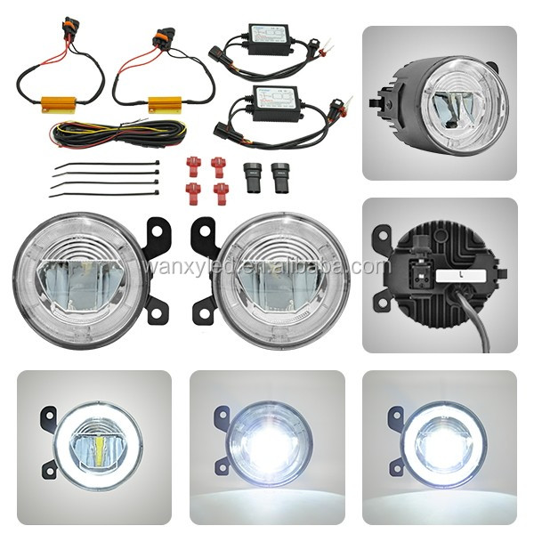 oe size replace directly auto parts vw golf 5 led drl fog light