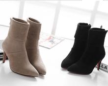 S61689A 2015 hot selling lady boots autumn winter women shoes pu leather boots