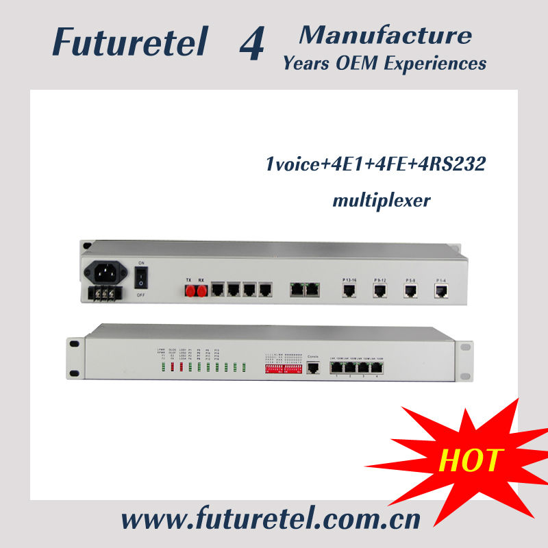 voice / data , rs-232, audio over ip converter ,E1, Data/Voice & Ethernet Fiber Optic multiplexers (4-32Ch.) cell tower