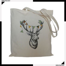 100% QC Eco-friendly promotional animal printed cotton bag