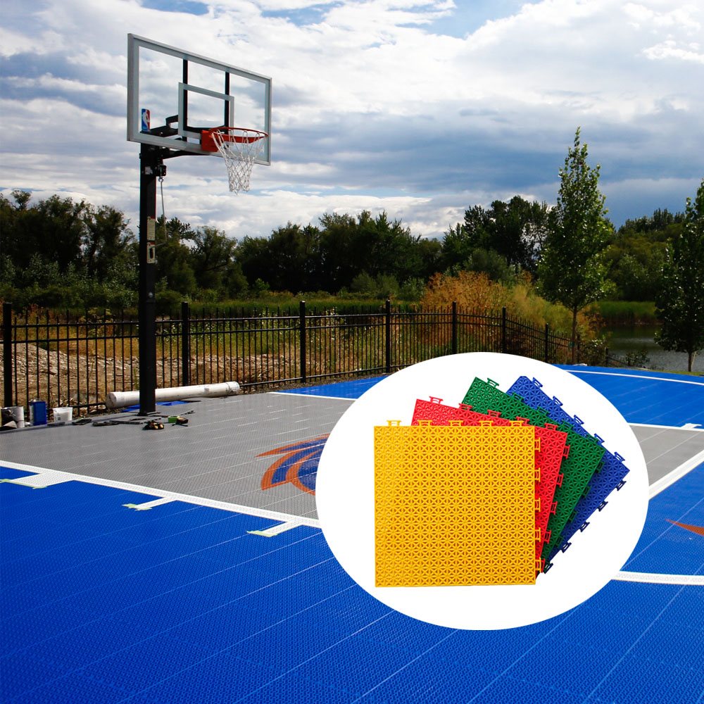 New PP portable outdoor standard basketball courts interlocking sports flooring prices