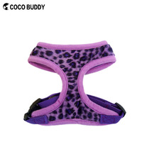 Wholesale Pet Accessaries Leopard Breathable Dog Harness for Training
