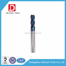 Changzhou Delevel Solid Carbide Milling Cutter Bull Nose Endmill Milling Cutter